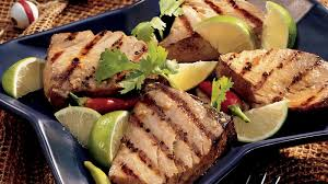 grilled ginger lime tuna steaks
