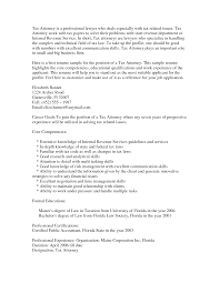 Sample Cover Letter Tax Lawyer Cover Letter