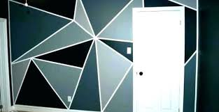 wall paint design ideas with tape a