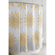 extra wide shower curtain for clawfoot tub. extra-wide medina floral shower curtain in white/yellow extra wide for clawfoot tub e
