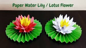 How To Make A Lotus Flower Out Of Paper Diy How To Make Water Lily Lotus Flower With Paper Paper Flowers Craftastic