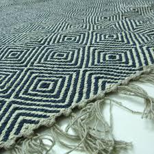 black indian hand woven geometric kilim rug