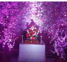 Ganpati Decoration Ideas At Home With Artificial Flowers Best Fascinating Flowers Decoration For Home Ideas