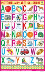 Sign Language Alphabet Communication Blue Educational Chart