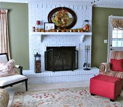 Decor & Tips: Brick Fireplace Makeovers With Fireplace Mantel ...
