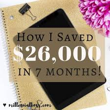 Save 20000 In A Year Chart How To Save 26 000 In 7 Months