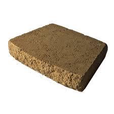 tan brown retaining wall cap common 3 in x 16 in