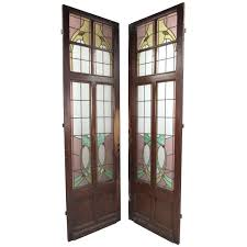 stain glass doors pair of vintage stained glass doors stained glass doors