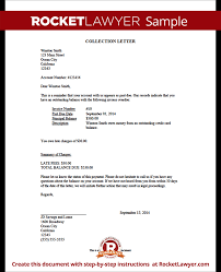 Sample collection letter Template