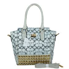 Coach Legacy Tanner In Studded Signature Small Grey Crossbody Bags BNQ  Outlet Online
