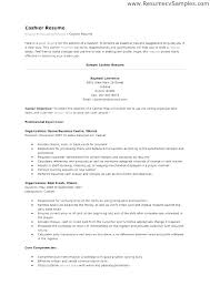 Resume Examples For Cashier Resume Web