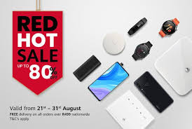 Huawei Red <b>Hot Sale</b> – Save up to <b>80</b>% on smartphones and gadgets