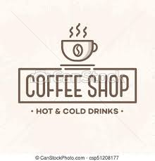 coffee shop logos. Contemporary Shop Coffee Shop Logo With Cup Line Style Isolated On Background For Cafe Shop  Restaurant Vector Design Elements Logos Identity Labels Badges And Other  Intended Shop Logos L