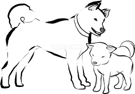 犬 イラスト フリー 白黒 ぬりえキッズ