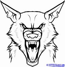 Small Picture 9 Pics Of Drawing Werewolves Coloring Page Werewolf Tattoo