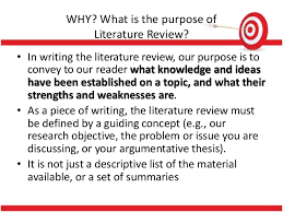 What is the purpose of literature review  Lincoln University