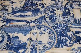 Asia Toile Blue and White Procelain Delft Style China Japan ... & Asia Toile Blue and White Procelain Delft Style China Japan Pottery Cotton Fabric  Quilt Fabric ABO134 Adamdwight.com