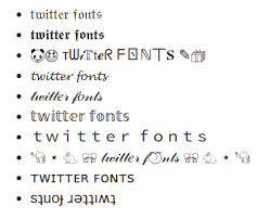 Cute Fonts For Android Twitter Fonts Generator