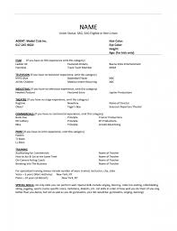 Special Skills Resume Child Actor Resume Format 100 Special Skills Acting Template How To 68