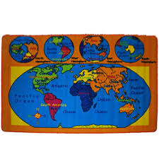 com kids rug world map area 5 x 7 children at