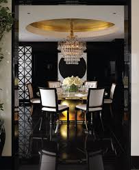 black and gold gold dining room
