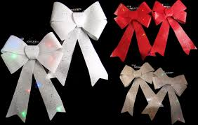Light Up Christmas Bows Details About Set Of 2 Giant Led Light Up Christmas Bow 40cm Decorations