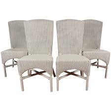 six vintage lloyd loom wicker dining chairs for at 1stdibs