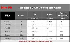 Amazon Jacket Size Chart Cherry Chick Womens Utralight Down Jacket Perfect For Spring Autumn