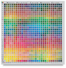 Artist Color Mixing Chart Magic Palette Artists Color Selector And Mixing Guide