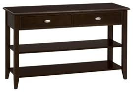 table with shelves. jofran 1030-4 sofa/media table with 2 drawers - shelves \u0026 oval n