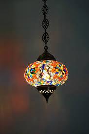 turkish multi coloured mosaic ceiling light