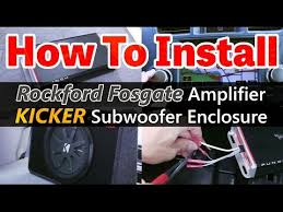 how to install kicker pt250 how to install an amplifier and subwoofer rockford fosgate pbr500x1 and kicker 40tcwrt122