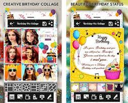 Collage Card Maker Happy Birthday Cake Status Card Photo Frame 1 11 Apk Download