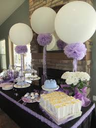 Lavender Bridal Shower 36in balloons, pompoms and frilly ribbons ...