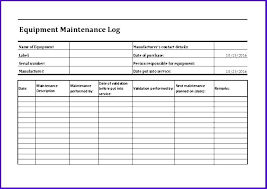 Equipment Service Log Template Equipment Service Log Template Xtech Me