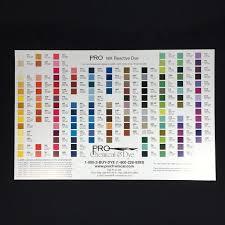 River Silks Color Chart Pro Mx Reactive Dye Color Card