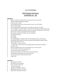Brief Chapter Overviews Chapters 16