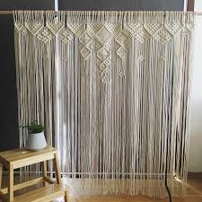 How to make macrame curtain step by step