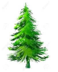 pine tree in abstract painting stock photo 7638944