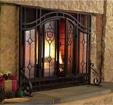 item 3 rustic fireplace screen flat elegant beveled with glass doors home heating s rustic rustic fireplace screens i13 rustic