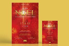 Christmas Concert Poster First Noel Christmas Concert Flyer Poster Template Inspiks Market