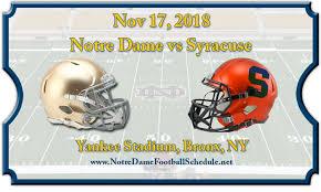 Notre Dame Fighting Irish Vs Syracuse Orange Football