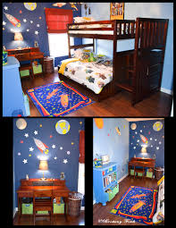 Space Bedroom I Like How One Wall Is Light And The Other Is Dark S Kids Outer