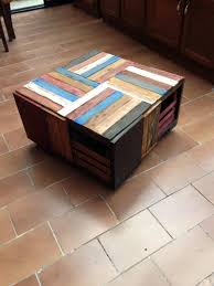 pallet wood and crate coffee table pallets crates throughout plans 13