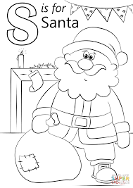 Small Picture Letter S is for Santa coloring page Free Printable Coloring Pages
