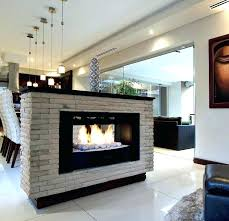 two sided gas fireplace brilliant indoor outdoor see thru within 13