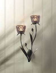flower holder wall sconce modern rustic candle throughout design 15