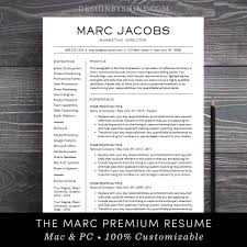 Modern Resume Template Cv Template For Pages Word Professional Design Free Cover Letter Creative Modern Teacher The Marc