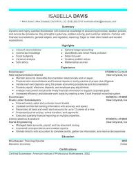 Bookkeeper Resume New Best Bookkeeper Resume Example LiveCareer