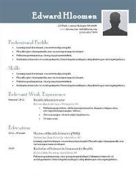 Free Resume Template By Hloom Com 124 Job Resume Format